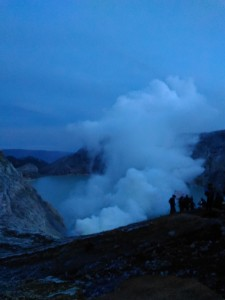the night trip to ijen blue flame